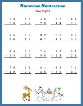 Snowman Subtraction