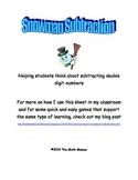 Snowman Subtraction: Double Digit Subtraction