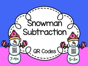 Snowman Subtraction: QR Codes