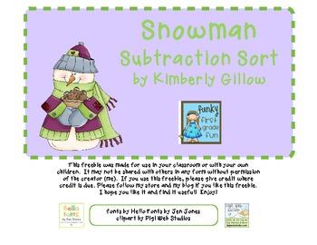Snowman Subtraction Sort