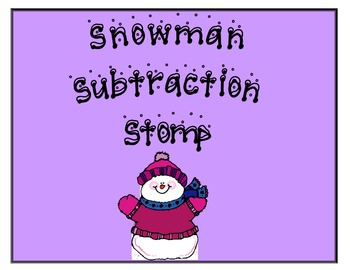 Snowman Subtraction Stomp