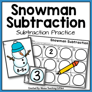 Snowman Subtraction - Subtraction Practice