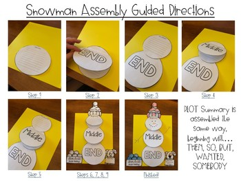 Snowman Summary Craftivity with Graphic Organizer!
