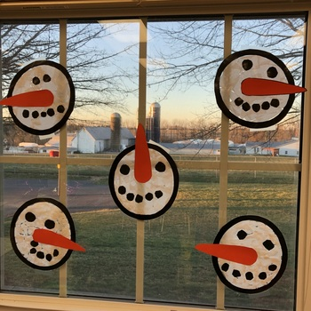"Snowman ""Sun Catcher"" Craftivity"