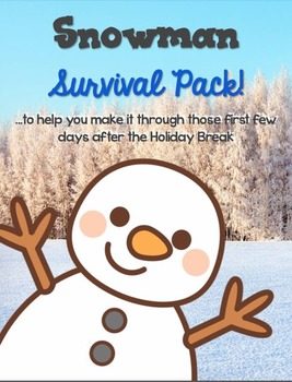 Snowman Survival Lit, Math, and Science Pack!
