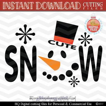Snowman Svg Snowman Face Svg Christmas Svg Snow Svg Winter Clipart