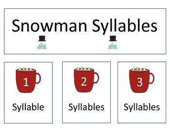 Snowman Syllables