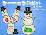 Snowman Syllables Counting Game