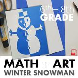 Snowman Symmetry- An Art Lesson on Reflective Symmetry