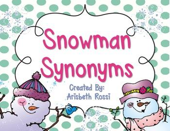 Snowman Synonyms {Freebie}