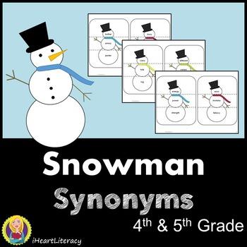 Snowman Synonyms - 4th & 5th Grade Common Core