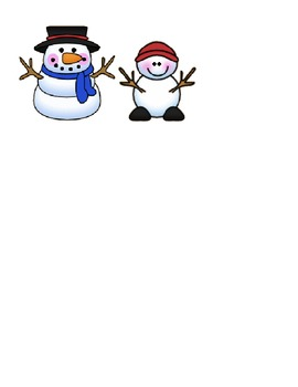 Snowman Synonyms Center Activity
