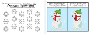 Snowman Synonyms Grammar Pack