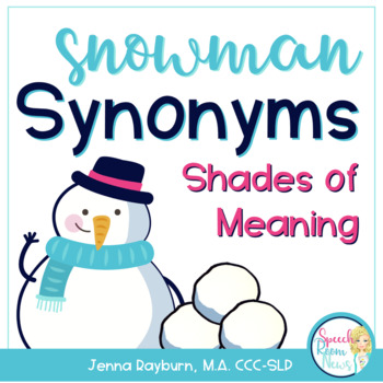 Snowman Synonyms: Winter Speech Therapy Activity
