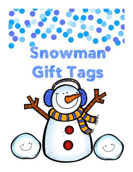 Snowman Tags FREEBIE!!!!