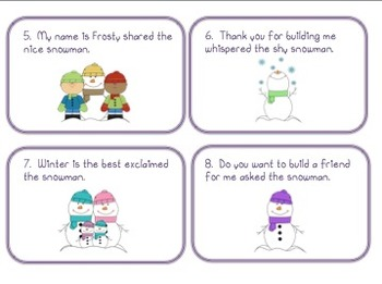Snowman Talk (adding quotation marks)