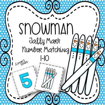 Snowman Tallies Number Matching 1-10