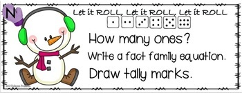 Snowman Math Task Cards