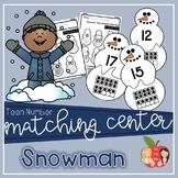 Snowman Teen Number Matching Center