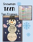Snowman Teen Ten Frames Craftivity