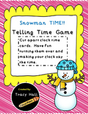 Snowman Telling Time Game