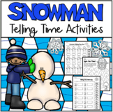 Snowman Telling Time Packet