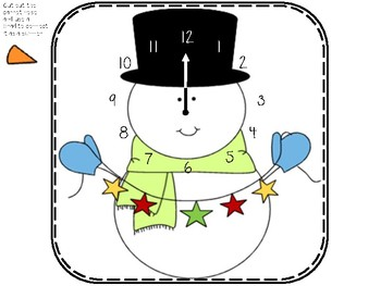 Snowman Telling Time to the Hour
