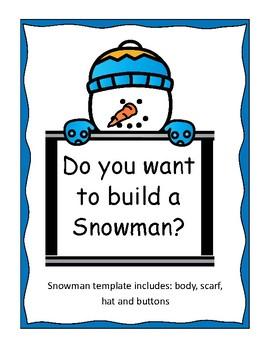 Snowman Template Teaching Resources Teachers Pay Teachers