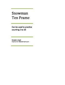 Snowman Ten Frame