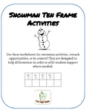 Snowman Ten Frame Activities