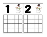 Snowman Ten Frame Activity (Numbers 1-20)