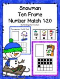 Snowman Ten Frame  Number Match 1-20