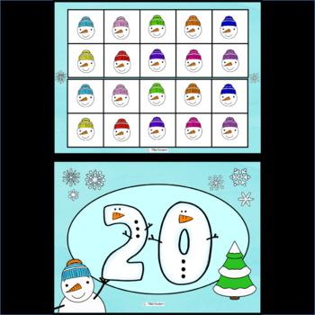 Snowman Ten Frames 0 - 20