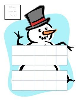 Snowman Ten Frames