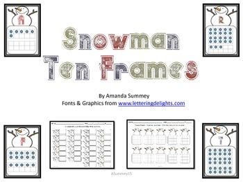 Snowman Ten-Frames Activity