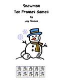 Snowman Ten Frames Games