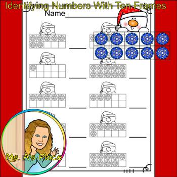 Snowman Ten Frames/Number Recognition