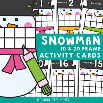 Snowman Ten and Twenty Frames