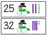 Snowman Tens and Ones Match