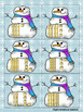 Place Value Snowman Tens and Ones to 50 Card Game