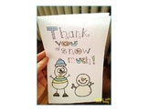 Snowman Thank You Card