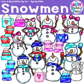 HTP Clip Art Snowman  {The Happy Teacher's Palette}