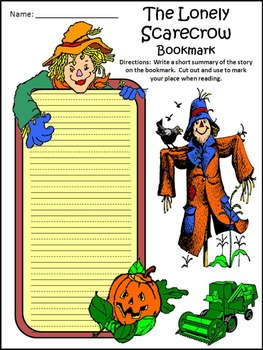 Scarecrow Activities: The Lonely Scarecrow Activity Packet Bundle - Color&BW