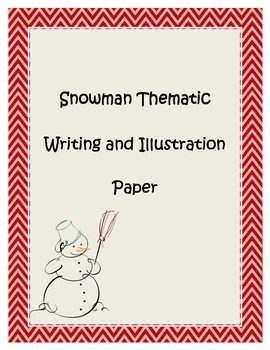Snowman Thematic Writing and Drawing Stationary Paper Wint
