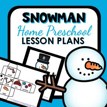 Snowman Theme Home Preschool Lesson Plans