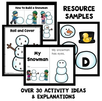 Snowman Theme Preschool Classroom Lesson Plans