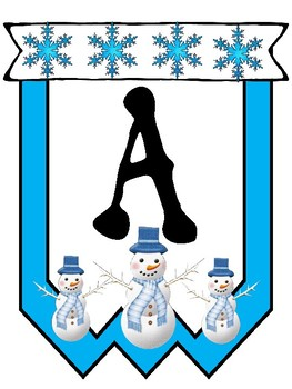 Snowman Themed Build a Banner