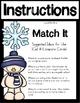 Snowman Themed CVC Word Literacy Center (56 Match It Cards)
