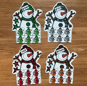 Snowman Themed Color Sorting Mats