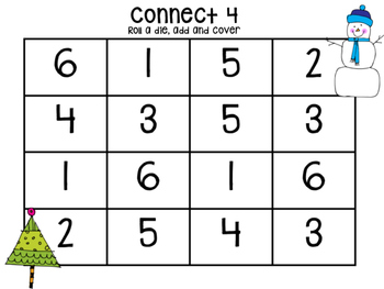 Snowman Themed Connect 4